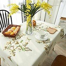 Amerikanische pastoral tuch tisch tuch,wohnzimmer schreibtisch rechteckig tv schrank tisch tuch-B 130x180cm(51x71inch)