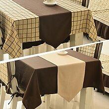 Amerikanische Pastorale Tischfahne,Modernes, Einfaches Design-couchtisch Tischdecke,Europäischen Stil Luxus Chinesischen Tischläufer Und Mosaik Gartentisch Läufer-A 35x220cm(14x87inch)