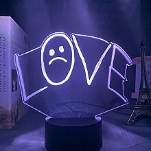 Amerikanische Rapper Lil Peep LED Nachtlicht,Home