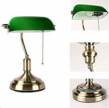 Amerikanische Retro Nachttischlampe, Bankerlampe,