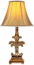 Amerikanische Retro Schlafzimmer Bett Lampe hochwertige Tischlampe kreative Mode Harz Lampe