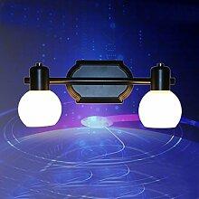 Amerikanische Retro-Spiegel-Beleuchtung Nostalgische Nachttischlampe Spiegel Lichtspiegel Wand,A