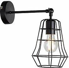 Amerikanische Wandlampe aus schwarzem