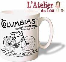 Amerikanischen Fahrrad - Anzeige keramisch Kaffeebecher - Originelle Geschenkidee - Spülmaschinefes