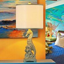 Amerikanischen,Östlichen Mittelmeer,Ländliche Lampe/Neue Chinesische,Studie,Schlafzimmer,Seepferdchen-lampe