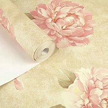 Amerikanischen romantischen Garten Blume grün Tapete/Vliestapete/Wohnzimmer Schlafzimmer Studie/[Hintergrund Tapete]-C