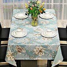 Amerikanischen Rustikalen Speisesaal Tischdecke,Quadratisches Couchtisch,Moderne Ländliche Tv-schrank Tischdecke Mahjong Tischdecke-C 135x180cm(53x71inch)