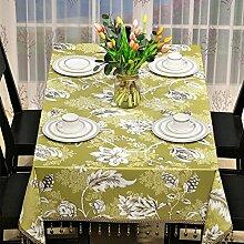 Amerikanischen Rustikalen Speisesaal Tischdecke,Quadratisches Couchtisch,Moderne Ländliche Tv-schrank Tischdecke Mahjong Tischdecke-B 135x180cm(53x71inch)