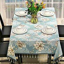 Amerikanischen Rustikalen Speisesaal Tischdecke,Quadratisches Couchtisch,Moderne Ländliche Tv-schrank Tischdecke Mahjong Tischdecke-D 135x240cm(53x94inch)