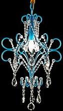 Amerikanischen Stil Gang Gang Restaurant Beleuchtung, Schlafzimmer Treppe Hause kreative Halle Garderobe europäischen Kristall Kronleuchter ( Farbe : Blau )