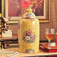 Amerikanischen Stil ländlichen Lagertank Gemalte Keramik Süßigkeiten europäischen Stil Lagerung Jar Tee Vorlage Dekoration Soft installieren Dekoration , b , xxxl
