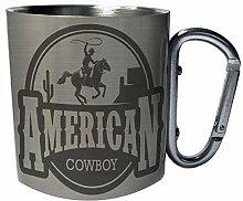 Amerikanischer Cowboy westliche USA Edelstahl