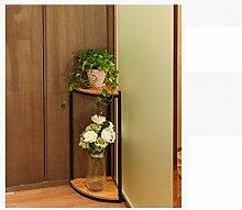 Amerikanischer Holzboden Wohnzimmer Balkon Blumen Sitz im europäischen Stil Regal mehrschichtige Blumentreppe Sitzecke ( stil : A )