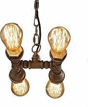 Amerikanischer Kronleuchter, E27LED, industrielle schmiedeeiserne Lampe [Energie A +]