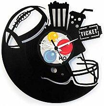 Amerikanischerfußball, Geschenkidee aus Vinyl, Schwarz, Vinyluse original