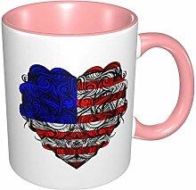 Amerikanisches Flaggenherz Nicht verblassender