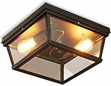 Amerikanisches Land einfache Glaslampe Nordic Retro industrielle Wind Eisen Deckenlampe Glühbirne Schraube Mund: E27