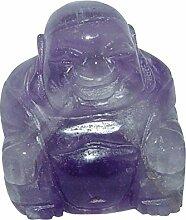 Amethyst gebändert Buddha ca. 25 x 30 mm aus