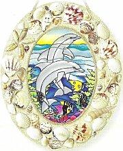 Amia Dolphin Reef Oval mittelgroß Suncatcher