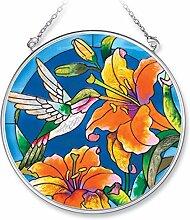 Amia Handbemalter Glas-Sonnenfänger mit Kolibri