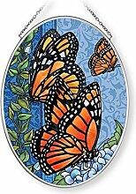 Amia Majestic Monarch Glas Suncatcher, Multicolor