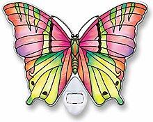 Amia Opal-Schmetterlings-Glas-Nachtlicht.