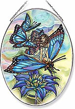 Amia Schmetterling Glas Suncatcher, Multicolor