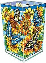 Amia Schmetterling und Sonnenblume Glas