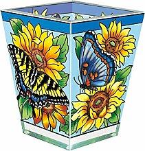 Amia Schmetterling und Sonnenblume Petite Glas
