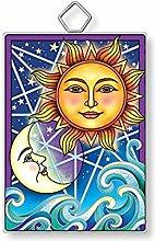 Amia Sonnenfänger aus Glas mit Mond- und