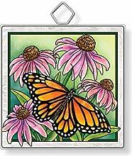 Amia Sonnenfänger aus Glas mit Schmetterlingen