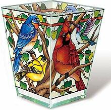 Amia Votivkerze aus Glas, handgefertigt, Mehrfarbig