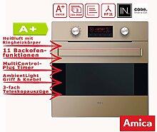 Amica EB 63523-2 M Einbaubackofen Beige glänzend A+ / Teleskopauszüge / Backofen Timer / Grill / Aqualytic Reinigungsfunktion