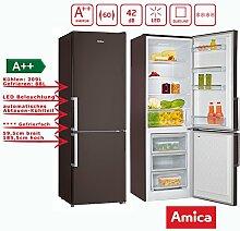 Amica KGC 15913 Kühl-Gefrier-Kombination Braun