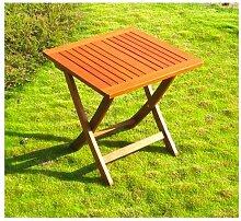 Amicasa. Gartentisch klappbar aus Holz quadratisch