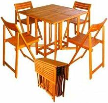 Amicasa. Tisch und Stühle Gartentisch klappbar