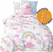 Aminata kids süße Biber-Bettwäsche-Set