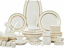 AMINSHAP 60-Teiliges Porzellan Geschirr Sets,