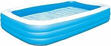 AMINSHAP Aufblasbares Schwimmbecken Blau Erhöhung