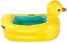 AMINSHAP Kinder Aufblasbare Pool Krabben Ente Form Design Vorschule Isolierung Tub Marine Ball Pool Umweltschutz Materialien (Farbe : Gelb)