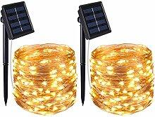 AMIR Solar Lichterkette, 33ft 100 LED Solar