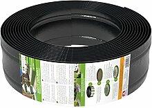 AMISPOL Elastische Rasenkante Kunststoff schwarz