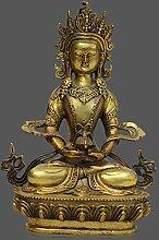 Amitayus Buddha Figur aus Bronze mit Ambrosia Vase