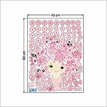 AmnesiNaDecorative Wandaufklebern Rosa Schmetterling Mädchen Schlafzimmer Dekoration Wand Aufkleber Kindergarten Klassenzimmer, Bild Farbe