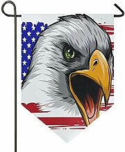 AMONKA Amerikanische Flagge Bald Eagle Garten