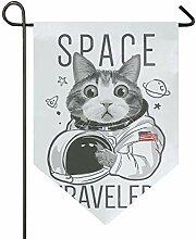 AMONKA Amerikanische Weltraumreisende Katze Garten