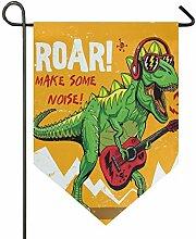 AMONKA Cool Dinosaurier Spielen Gitarre Garten