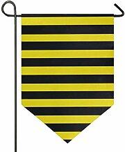 AMONKA Garten-Flagge mit Bienenen-Streifen,