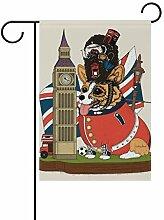 AMONKA Garten-Flagge mit Grauer Katze,