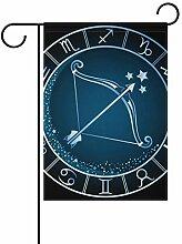 AMONKA Garten-Flagge mit Kompass, zweiseitig,